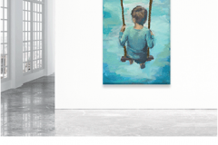 Boy on Swing Product Type: Original Art  Signature Included Certificate Of Authenticity Included Size: 36 x 54 Artist: Fern Cassidy Made in the USA $1500